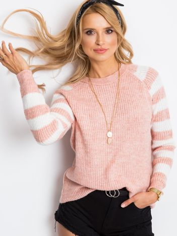 Jasnoróżowy sweter Independent