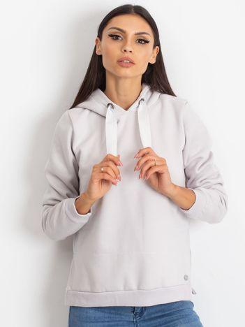 Jasnoszara bluza z koszulą