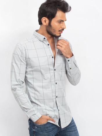 Jasnoszara koszula męska Seemly