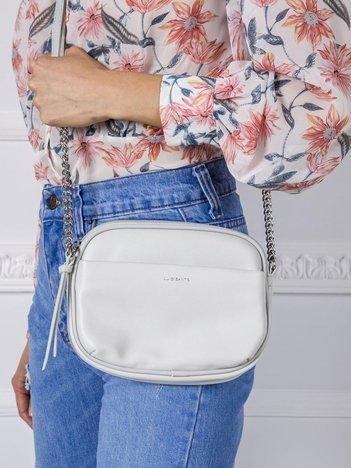 Jasnoszara mała torebka na ramię