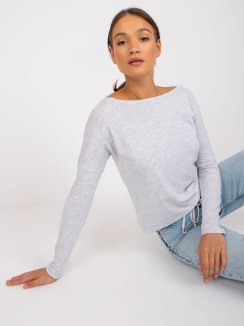 Jasnoszara melanżowa bluzka Selene