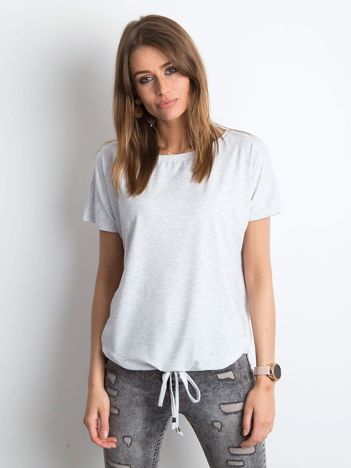 Jasnoszary melanżowy t-shirt Curiosity