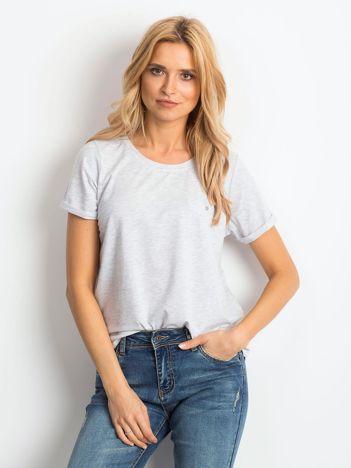 Jasnoszary melanżowy t-shirt Transformative