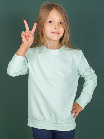 Jasnoturkusowa bluza młodzieżowa