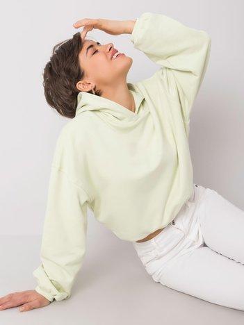 Jasnozielona bluza z kapturem Laurel