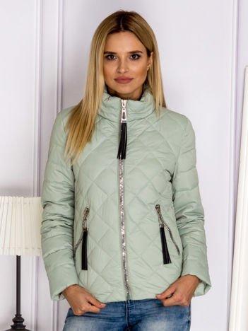 Jasnozielona pikowana kurtka