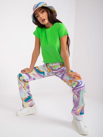 Jasnozielony t-shirt damski