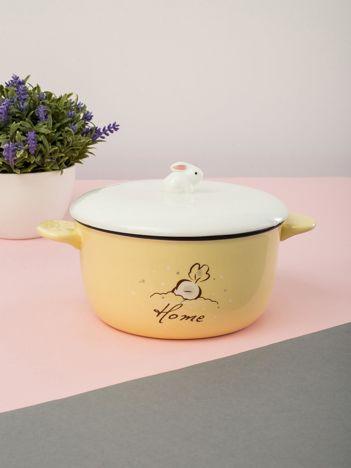 Jasnożółta ceramiczna miska
