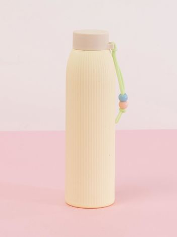 Jasnożółta ekologiczna butelka z powłoką termiczną