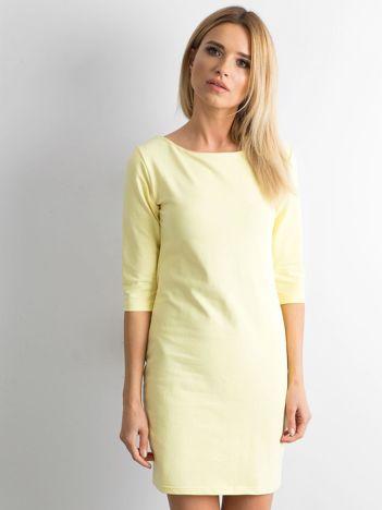 Jasnożółta sukienka z bawełny