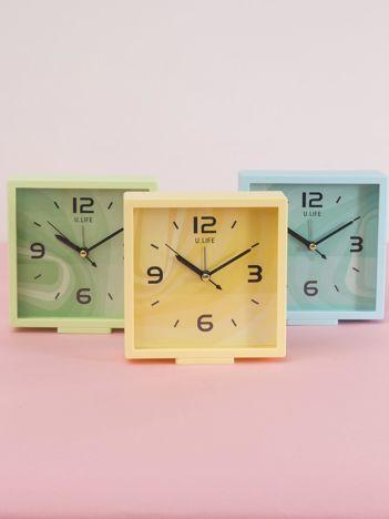 Jasnożółty kwadratowy zegarek
