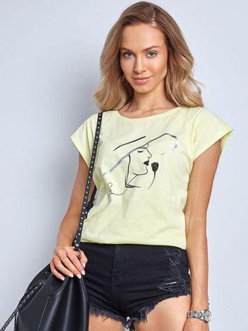 Jasnożółty t-shirt Bright