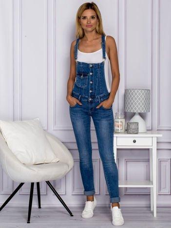Jeansowe ogrodniczki niebieskie