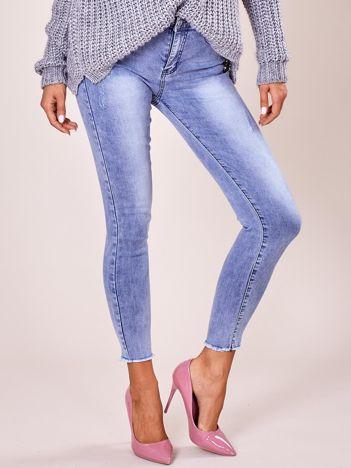 Jeansowe spodnie skinny niebieskie