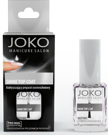 Joko Manicure Salon Nabłyszczający preparat nawierzchniowy Shine Top Coat 10 ml