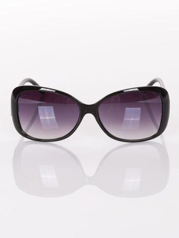KLASYKA czarne eleganckie okulary przeciwsłoneczne typu MUCHY