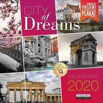 KUKARTKA Kalendarz ścienny na rok 2020 CITY OF DREAMS + plakat 60x30 cm