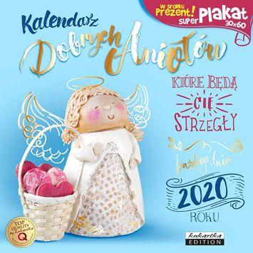 KUKARTKA Kalendarz ścienny na rok 2020 DOBRE ANIOŁY + plakat 60x30 cm