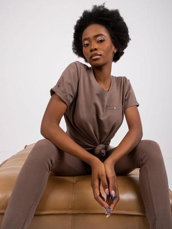 Kawowy t-shirt Transformative