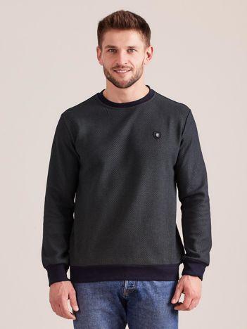 Khaki bluza męska w drobny geometryczny wzór