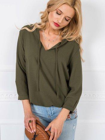 Khaki bluzka Henrietta RUE PARIS