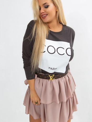 Khaki bluzka plus size Sheer