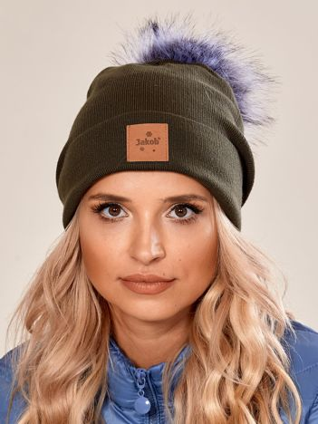 Khaki czapka z naszywką