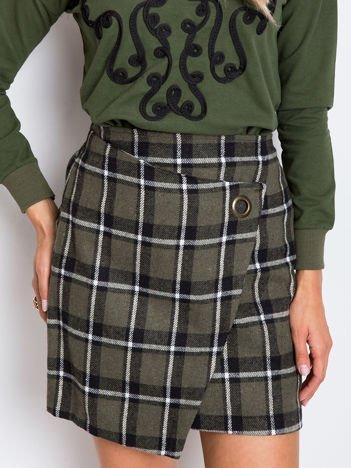 Khaki-czarna spódnica Classic