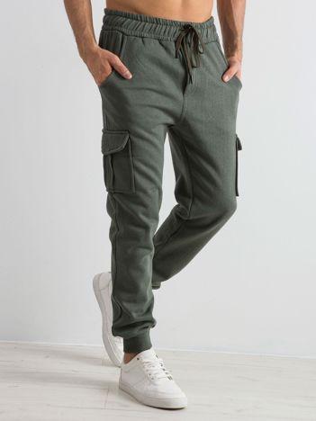 Khaki dresowe spodnie męskie Enduring