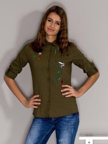 Khaki haftowana koszula