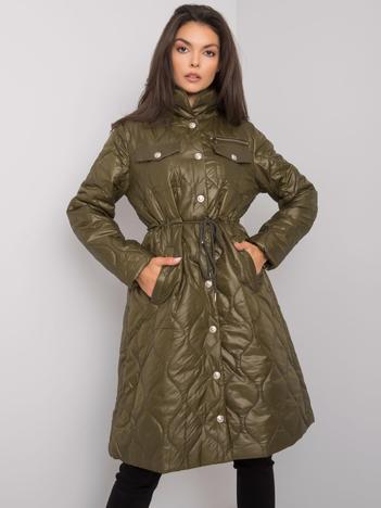 Khaki pikowana kurtka przejściowa Casarine