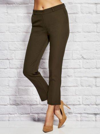 Khaki spodnie cygaretki