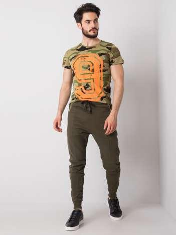 Khaki spodnie dresowe męskie Bryson