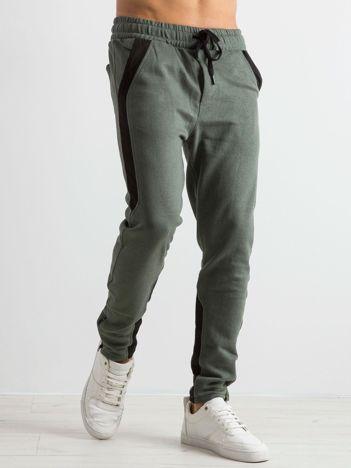 Khaki spodnie dresowe męskie Durable