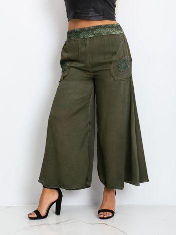 Khaki spodnie plus size Honey
