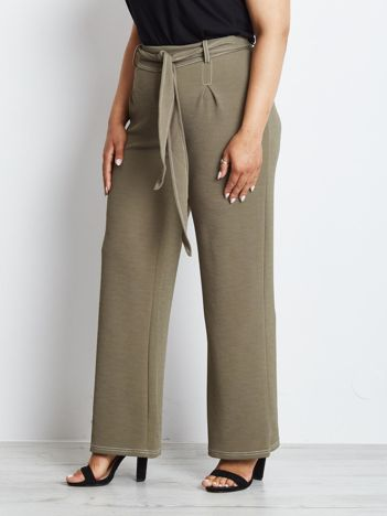 Khaki spodnie plus size Magnificent