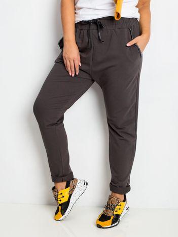 Khaki spodnie plus size Savage