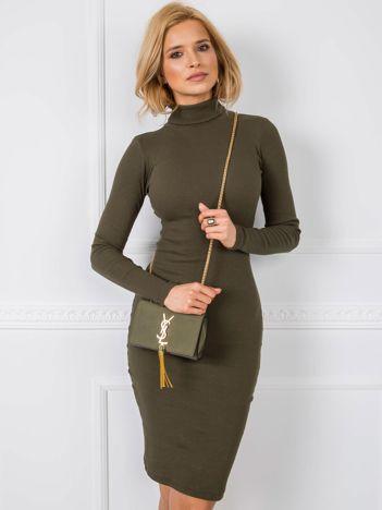 Khaki sukienka Livia RUE PARIS
