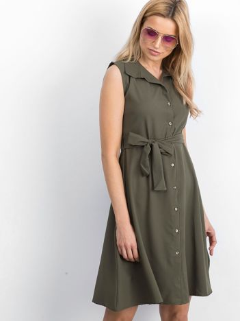 Khaki sukienka Masterclass