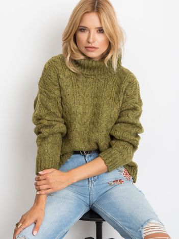 Khaki sweter Heavenly