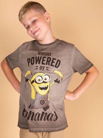 Khaki t-shirt chłopięcy MINIONKI