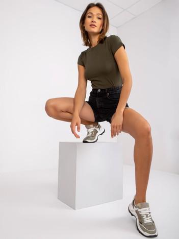 Khaki t-shirt damski