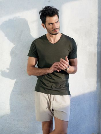 Khaki t-shirt męski basic