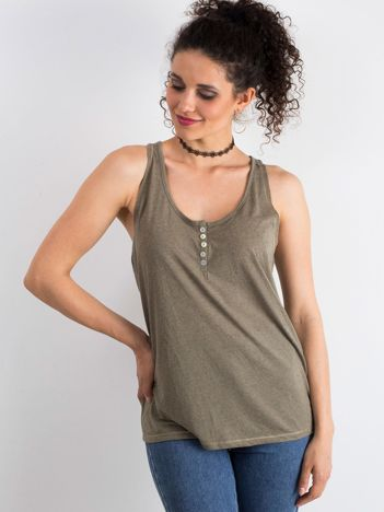 Khaki top Fabulous