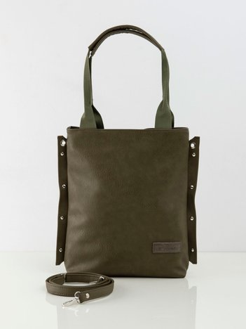 Khaki torba damska z eko skóry