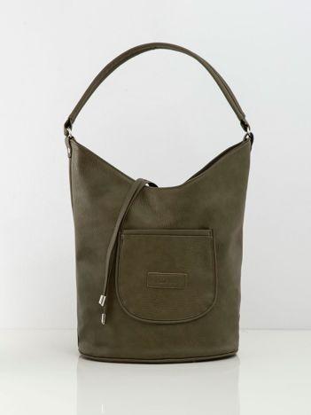 Khaki torba w stylu hobo