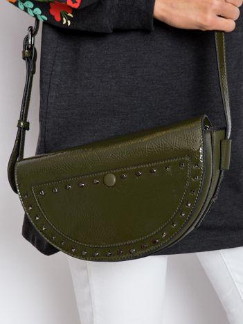 Khaki torebka saddle bag