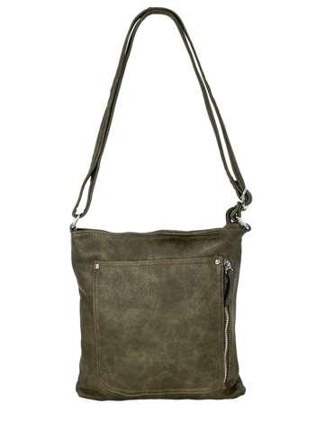 Khaki torebka ze skóry ekologicznej