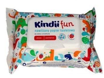 Kindii Fun Nawilżany Papier toaletowy dla dzieci   1 op.- 60 szt