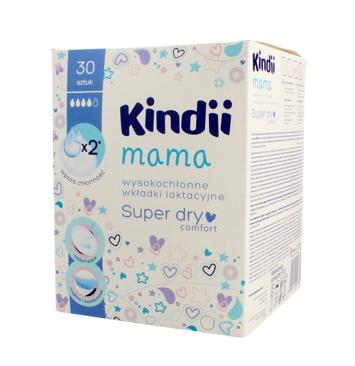 "Kindii Mama Wkładki laktacyjne wysokochłonne Super Dry Comfort  1op.-30szt"""